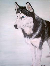 Hund, Acrylmalerei, Tiere, Tierportrait