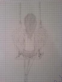 Mädchen, Flügel, Fantasie, Engel