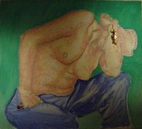Malerei, Bank, Madonna