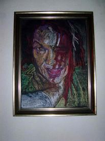 Zeichnung, Portrait, Malerei
