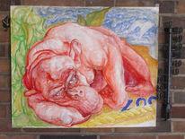 Malerei, Figural, Zoo