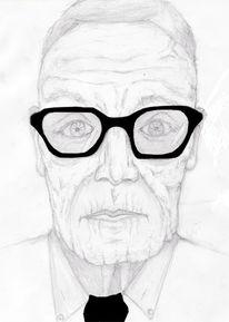 Mann, Zeichnungen, Portrait