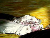 Afrika, Flusspferd, Schlaf, Beige