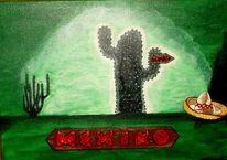 Grün, Acapulco, Malerei, Landschaft