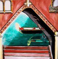 Grande, Spiegelung, Venedig, Gondel