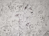 Schwarzweiß, Finelinerbilder, Zeichnungen