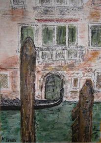 Haus, Gondel, Wasser, Kanal