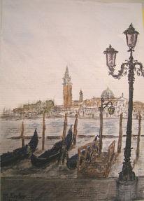 Markusplatz, Venedig, Italien, Gondel