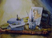 Grafik, Tasse, Musik, Aquarellmalerei