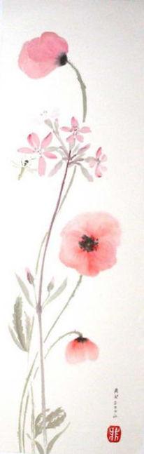 Blumen, Blüte, Biene, Mohn