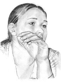 Gesicht, Frau, Zeichnungen, Portrait