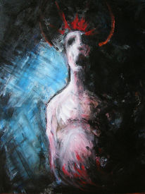 Heilig, Acrylmalerei, Dunkel, Figur