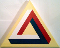 Abstrakt, Dreieck, Acrylmalerei, Geometrie
