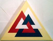 Abstrakt, Geometrie, Dreiecke, Acrylmalerei