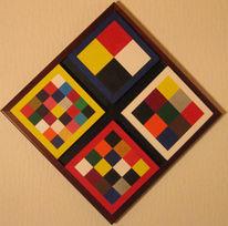 Quadrat, Geometrie, Acrylmalerei, Abstrakt