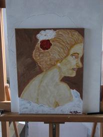 Portrait, Acrylmalerei, Matahari, Braun