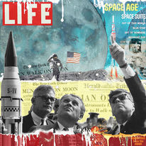 Digital art, Collage, Kennedy, Digital composing