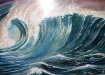 Welle, Wasser, Aquarellmalerei, Aquarell