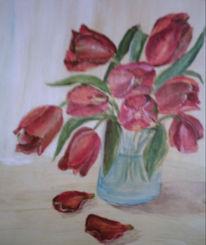 Blumen, Acrylmalerei, Malerei, Stillleben