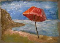 Acrylmalerei, Wasser, Strand, Malerei