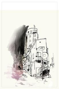 Japan, Harajuku, Tuschmalerei, Haus