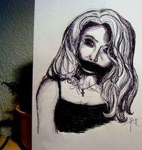 Schwarz weiß, Kugelschreiber, Stumm, Schweigen