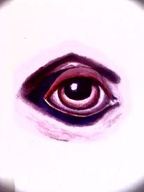 Pink, Malerei, Blick, Augen