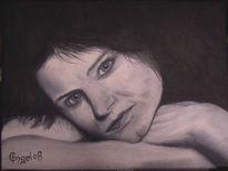 Portrait, Realismus, Ölmalerei, Frau
