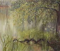 Wasser, Wurzel, Fluss, Blätter