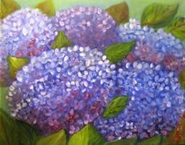 Garten, Flora, Blumen, Ölmalerei