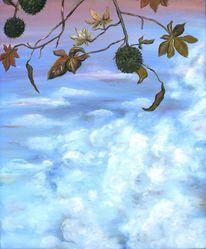 Kastanien, Herbst, Blätter, Krank