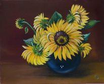 Flora, Ölmalerei, Blumen, Blüte