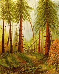 Herbst, Hell, Schein, Naturschutz