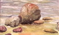 Ostsee, Wasser, Stein, Rügen