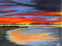 Pastellmalerei, Himmel, 2008, Fema