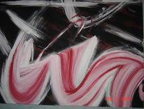 Abstrakt, Welle, Joghurt, Malerei