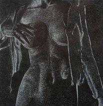 Figural, Kugelschreiber, Akt, Malerei