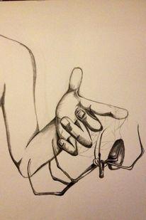 Hand, Zeichnung, Tiere, Spinne