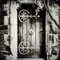 Schwarzweiß, Fotografie, Architektur, Tür