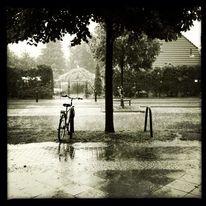 Schwarzweiß, Stadt, Fotografie, Regen