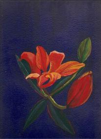 Lilie, Blumen, Acrylmalerei, Malerei
