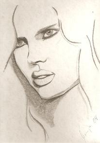 Mädchen, Skizze, Zeichnung, Zeichnungen