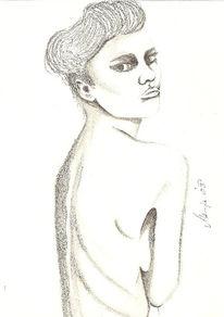Zeichnung, Mädchen, Mager, Zeichnungen