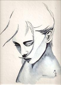 Gesicht, Monochrom, Zeichnung, Zeichnungen