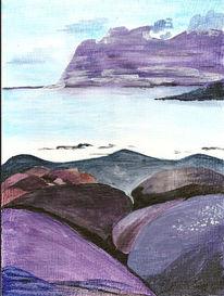 Berge, Landschaft, Sommer, Acrylmalerei