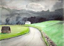 Malen, Festhalten, Berge, Malerei