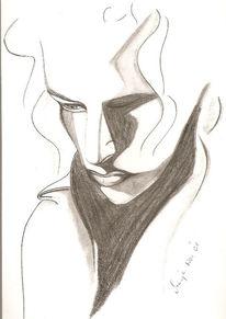 Gesicht, Portrait, Bleistiftzeichnung, Zeichnungen