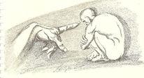 Zeichnung, Skizze, Hand, Figur
