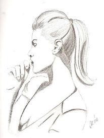 Skizze, Portrait, Bleistiftzeichnung, Zeichnungen