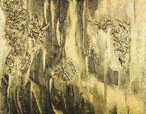 Gold, Abstrakt, Malerei